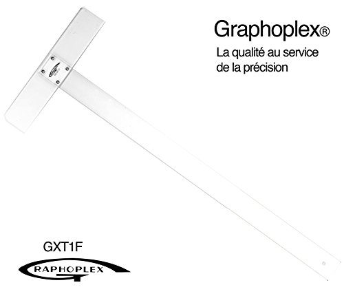 Graphoplex Bracket T-Square Screwed 2 bords antitaches 65 cm Transparent by Graphoplex