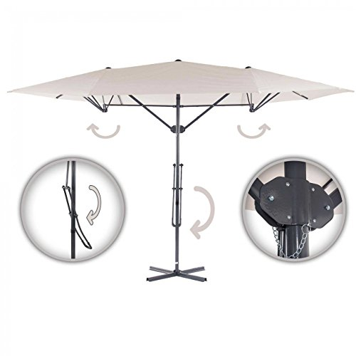 Strattore Sonnenschirm Ampelschirm Komfort Hebelmechanik 4,25 x 2,5 m creme