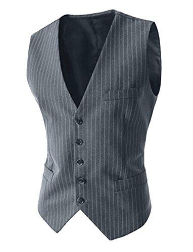 Grey Pinstripe Suit - 9