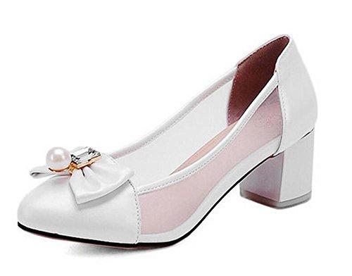 Tacón Zapatos de la XIE Blue Las 36 de de Corte la Transpirables Mariposa Las WHITE Simple 37 de Zapatos de la de Medio Manera Redes Mujeres OwwUdqH