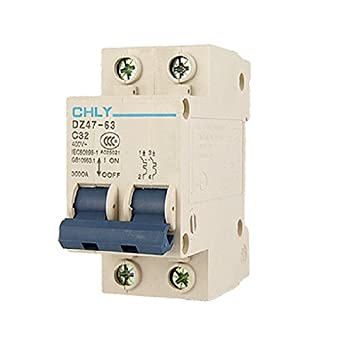 DealMux quebrar a capacidade 2P Mini Circuit Breaker, AC, 400V, 3000 Amp