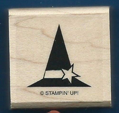 Rubber Stamp Frames Witch HAT Star Halloween Costume New Spooky Bingo Bits Rubber Stamp