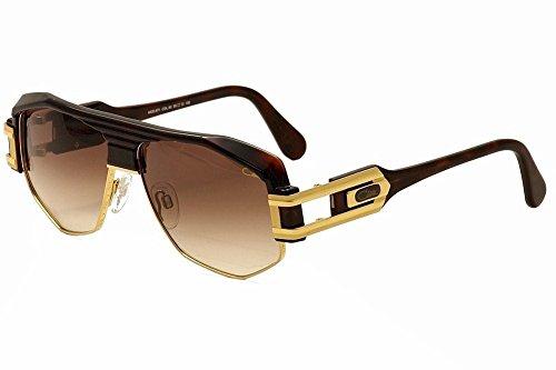 Cazal 671 Sunglasses 080SG Glossy Dark Brown/Gold / Brown Gradient 59 - Sunglasses Cazal Men