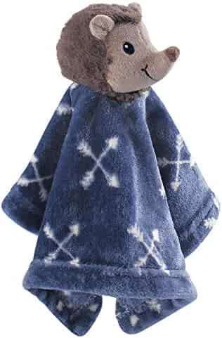 Hudson Baby Animal Friend Plushy Security Blanket, Hedgehog, One Size