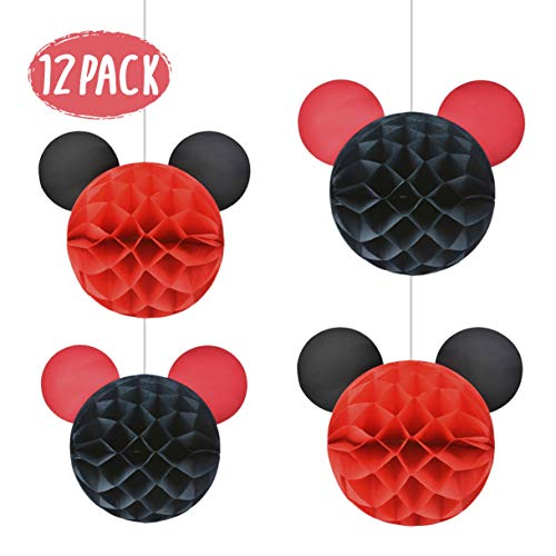 Mickey Mouse Party Supplies Mickey Themed Honeycomb Balls for Micky Mouse Party Decorations ()