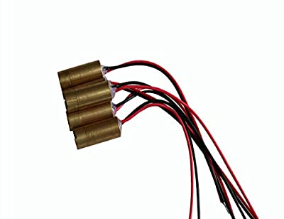 5mW 650nm Red Line Laser Module Focus Laser Head 3V Industrial Lazer Diode Brass 5pcs