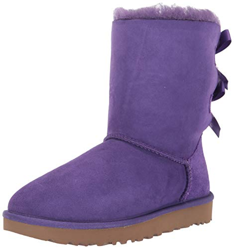 UGG Women's Bailey Bow II Fashion Boot, violet bloom, 9 M US (Ugg Short Boots Purple)