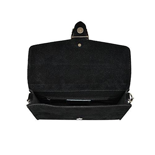 A Camoscio Borsa Rachel In Made myitalianbag Pelle Catena Pochette Tortora Liscia Chiaro Tracola Metallo Spalla Accessori E Italy wROtHtx
