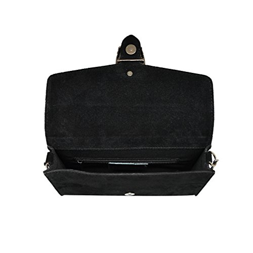 Rosso lederen handtas myitalianbag Pochette dames 71045 voor pEq0a0Aw