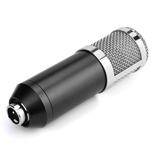 Live streaming Microphone Sound Studio Dynamic Mic +Shock Mount Condenser Pro Audio BM800 For Windows Mac (Black Silver) by Liu Nian (Image #2)