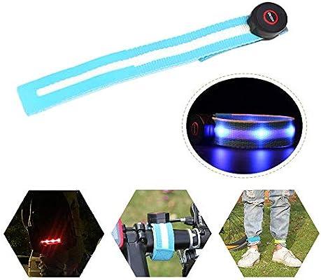 Ankle Lights for Night Outdoor Exercise /& Activities LED Slap Band Adjustable LED Sport Armband Glow Bracelet Unisex Safety Wristband Light-Up Armband Reflective Strips with LED Flashing Lights
