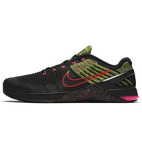 Nike Heren Metcon Dsx Flyknit Trainingsschoen Zwart / Racer Roze / Volt / Zwart