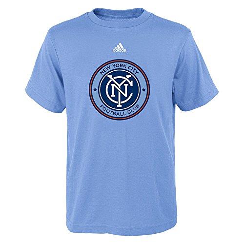 (adidas New York City Football Club Youth Blue Primary Logo T-Shirt Medium 10/12)