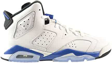 quality design cf930 31138 Jordan Air 6 Retro BG Big Kids Shoes White Sport Blue-Black 384665-