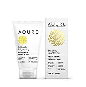 Acure Brilliantly Brightening Night Cream (Packaging May Vary), 1.7 Fluid Ounce