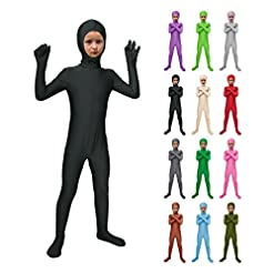 - 41sP8Lnie9L - Sheface Kids Spandex Face Out Bodysuit Fancy Dress Costume