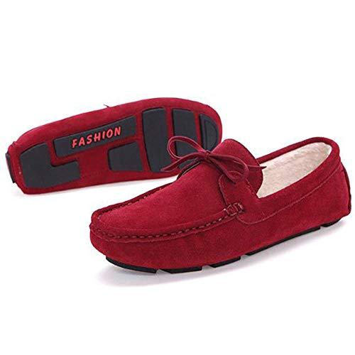 Resistentes de al Primavera Desgaste Zapatos para Cuero Zapatos de Hombres Rojo de Vestir 6CWdqzw