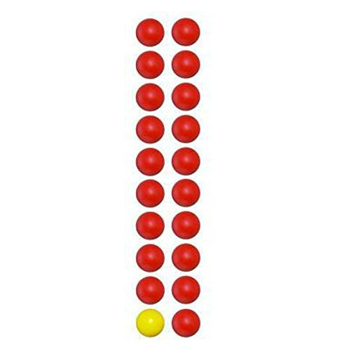 - Hungry Hungry Hippos Game Replacement Marbles-20 Pieces (19 Red and 1 Yellow Marbles)