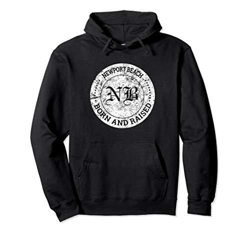 Newport Iced - Newport Beach California Born and Raised Vintage Hoodie