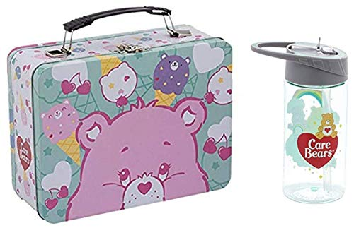 - Vandor Care Bears Large Tin Tote (29070) and 14 Ounce Tritan Water Bottle (29075) Set of 2