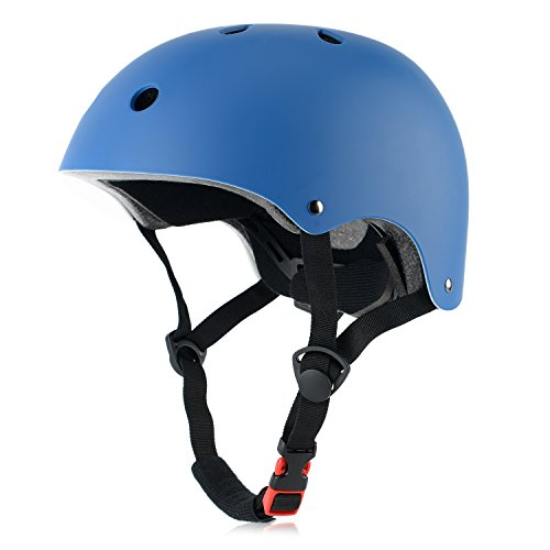 Ouwoer Kids Bike Helmet, CPSC Certified, Adjustable and Multi-Sport, from Toddler to Youth (Blue)