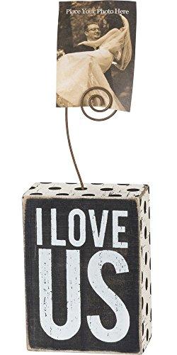Primitives by Kathy I Love Us Wood Block Decorative Sign - Block Photo Holder