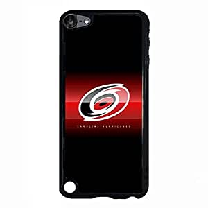 Ipod touch 5th Case Black and White NHL Carolina Hurricanes Hockey Team Logo Sports Design Unique Slim Galaxy Cute Rubber Protective Hard Plastic Phone Accessories Case Cover for Men