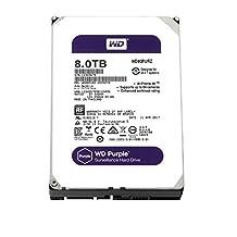 WD Purple 8TB Surveillance Hard Disk Drive - 5400 RPM Class SATA 6 Gb/s 128MB Cache 3.5 Inch - WD80PURZ