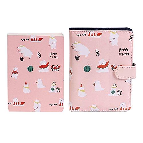 CLARA Cute Polar Bear Pattern Printing Notebook