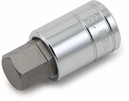 Titan 15611 11mm 1/2-Inch Drive Hex Bit Socket