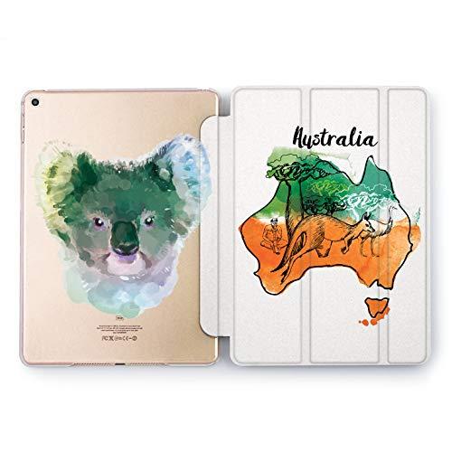 Wonder Wild Australian Koala Apple iPad Pro Case 9.7 11 inch Mini 1 2 3 4 Air 2 10.5 12.9 2018 2017 Design 5th 6th Gen Clear Smart Hard Cover Animal Geography Wallaby Ostrich Baobab Continent Face -