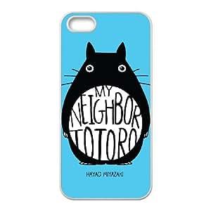 iPhone 5 5s Cell Phone Case White My Neighbor Totoro Fashion Phone Case Cover Hard XPDSUNTR30763