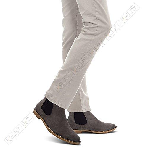 Homme Chelsea Boots Xelay Gris Xelay Boots OgnaRR