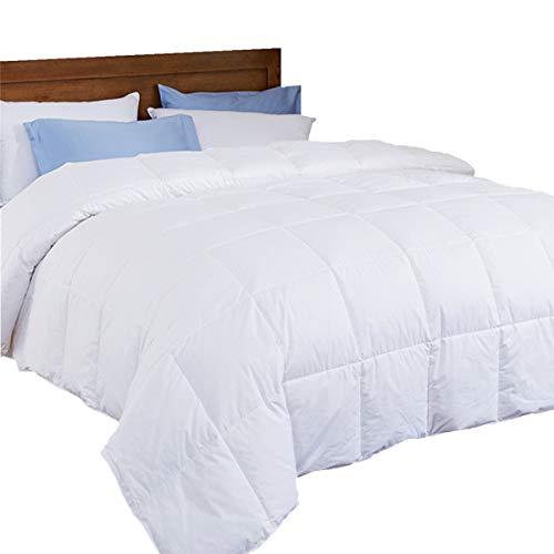 puredown Lightweight Down Comforter, Light Warm Duvet Insert, Full/Queen Size, White