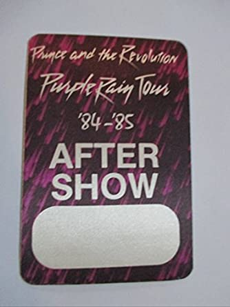 1984-85 Prince Backstage Pass After Show Purple Rain