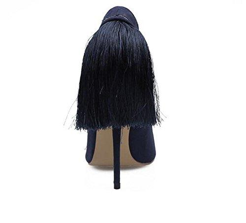 Femmes de Mariage Bouche Chaussures Glands Banquet Superficielle Fine xie Talon Haute zqP5nnxv