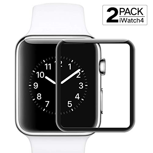 Screen Protector for Apple Watch Series 4/5(40mm) Max Coverage - Scratch Resistant Anti-Bubble Film HD Clear Anti-Bubble - [2 Pack]