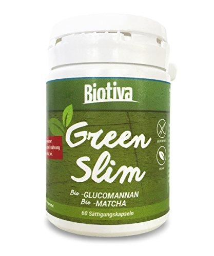 Bio-Sättigungskapseln GREEN SLIM (60 Kapseln, Bio)│Sensation: Bio-Appetithemmer als Diät-Unterstützung und zum Abnehmen I 100% Bio - 100% Vegan | Abnehm-Wirkung wissenschaftlich bestätigt!