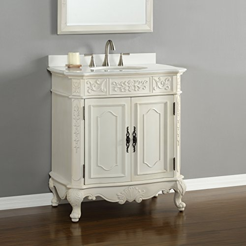 Rutherford 33' Single Vanity in Antique White