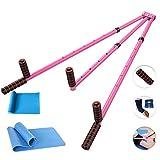CAJOLG Splitter Leg Stretcher,Leg Expansion Metal Legs Stretching Equipment Stretching Machine,Pink,F