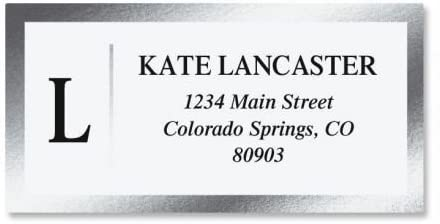 "Personalized Elegant Monogram Return Address Labels ~ 1 3//4/"" x 1//2/"" ~ Script 1"