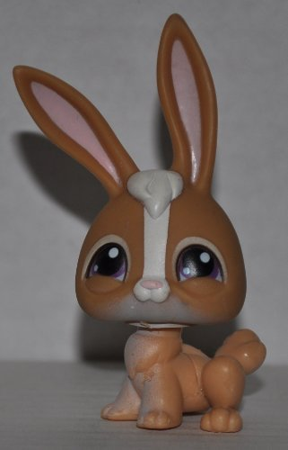 Rabbit #28 (Brown/White) - Littlest Pet Shop (Retired) Collector Toy - LPS Collectible Replacement Figure - Loose (OOP Out of Package & Print (Littlest Pet Shop 28)