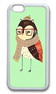 Apple Iphone 6 Case,WENJORS Awesome Smart Owl Soft Case Protective Shell Cell Phone Cover For Apple Iphone 6 (4.7 Inch) - TPU White