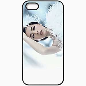 Personalized iPhone 5 5S Cell phone Case/Cover Skin Asian Face Feathers Make Up Black