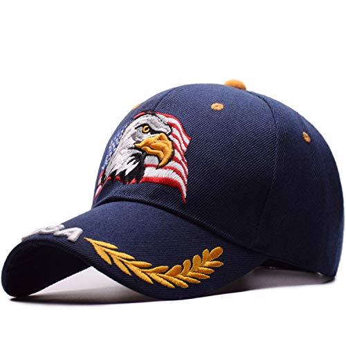 野球のキャップ 刺繍の 男性 夏 カジュアルレター ヒップホップのキャップ,海軍