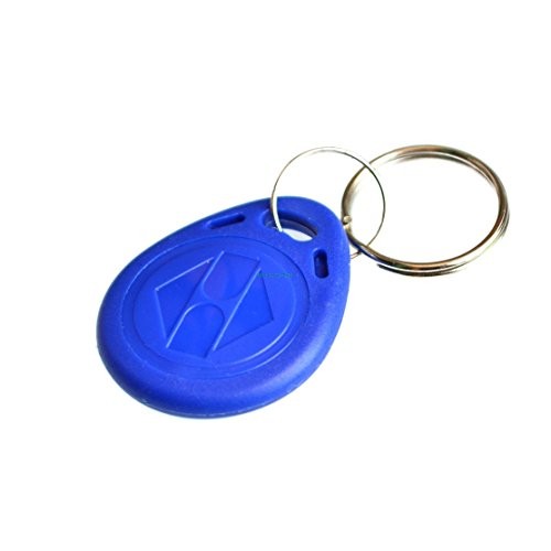 Bestol 100pcs/Lot RFID Tag Proximity ID Token Tag Key Ring 125Khz 125KHZ  RFID Card bule red