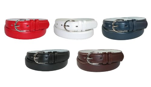 Genuine Leather Women's Dress Belt Basic Colors by CTM®