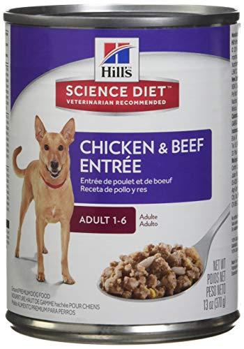 HillS Science Diet Adult Wet Dog Food, Chicken & Beef Entrée Canned Dog Food, 13 Oz, 12 Pack