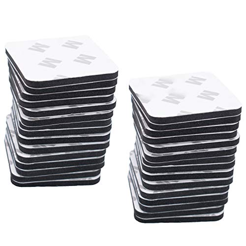 60PCS Black Double Sided Foam Tape Strong Pad 1.58