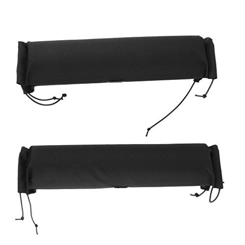MagiDeal 2Pcs Heavy Duty Durable Soft Padded Car Truck Roof Bar Rack Pads for Kayak Canoe Boat Dinghy Surfboard Ski Snowboard Protection by Unknown